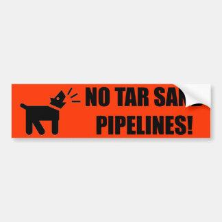 Aktivisten-Hund: Keine Teersand-Rohrleitung Autoaufkleber