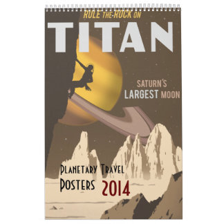 Aktualisiert 2014 Raumfahrtplakaten Wandkalender