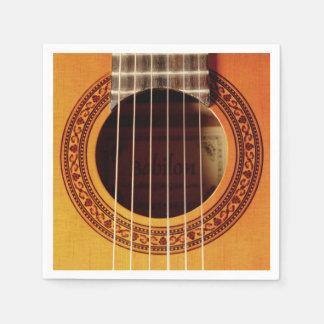 Akustikgitarre-Detail Papierserviette