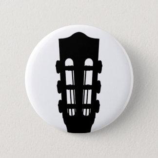 Akustikgitarre-Kopf-Knopf-Abzeichen Runder Button 5,7 Cm