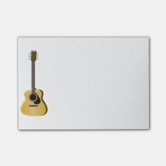 Akustikgitarre Post-it Klebezettel