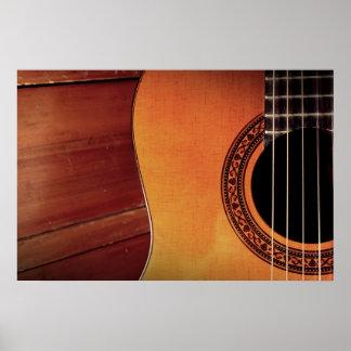 Akustikgitarre Posterdrucke