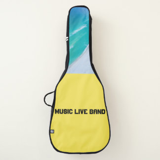 Akustikgitarre-Tasche - Musik-LiveBand (Gelb) Gitarrentasche