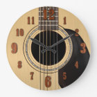 Akustikgitarre-Uhr mit Zahlen Große Wanduhr