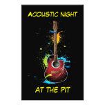 Akustikgitarrekunst-Flyer