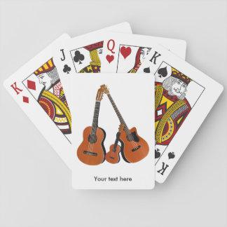 AkustikgitarreUkulele und akustischer Baß Spielkarten