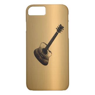 Akustisch-Ähnlicher Gitarren-Bronze-Kupfer-Effekt iPhone 8/7 Hülle