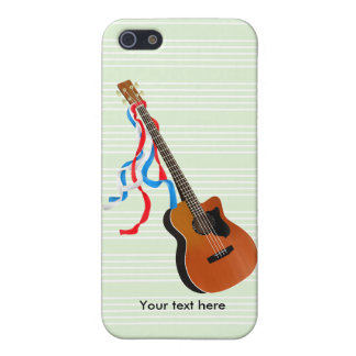 Akustische Bass-Gitarren-Amerikaner-Musik iPhone 5 Case
