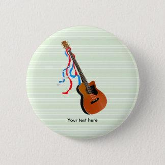 Akustische Bass-Gitarren-Amerikaner-Musik Runder Button 5,1 Cm