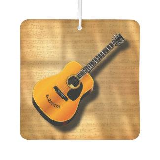 Akustische Vintage Gitarre mit Autolufterfrischer