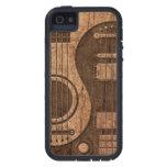 Akustischer E-Gitarren Yin Yang Holz-Effekt Etui Fürs iPhone 5