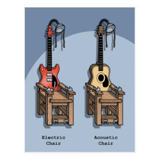 Akustischer Stuhl Postkarte