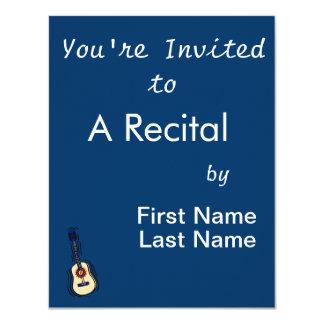 akustisches einfaches Rot blue.png der Gitarre 10,8 X 14 Cm Einladungskarte