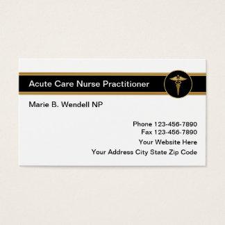 Akuter Sorgfalt-Krankenschwester-Praktiker Visitenkarte