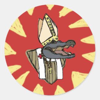 Al G. für Papst Runder Aufkleber
