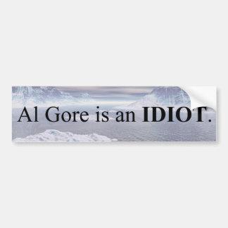Al Gore ist ein Idiot Autoaufkleber