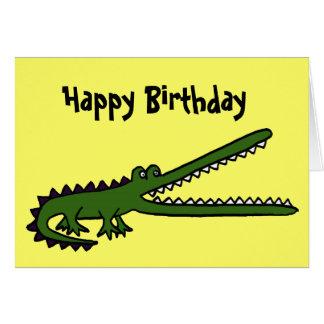 AL lustige Krokodil-Geburtstags-Karte Grußkarte