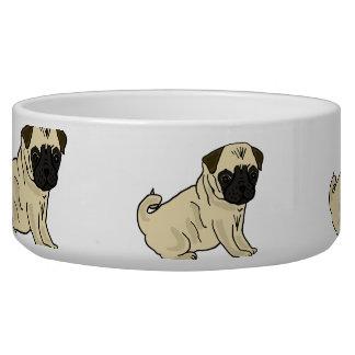 AL Mops-Cartoon-Wasser-Schüssel Hundenäpfe