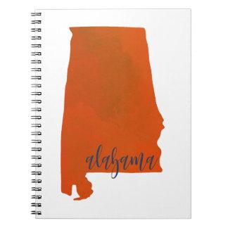 Alabama-Drucknotizbuch Spiral Notizblock