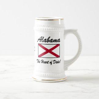 Alabama, Herz von Dixie!  Bier Stein Bierglas