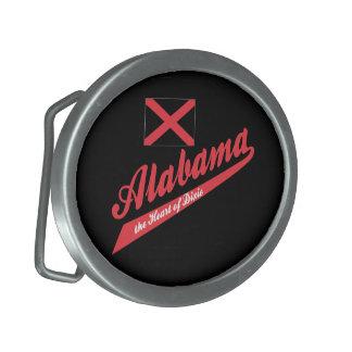 Alabama-Herz von Dixie Ovale Gürtelschnalle