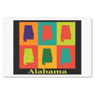 Alabama-Karten-Silhouette-Pop-Kunst Seidenpapier