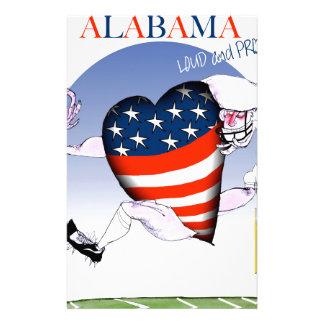 Alabama laute und stolz, tony fernandes briefpapier