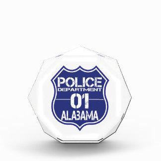 Alabama-Polizeidienststelle-Schild 01 Acryl Auszeichnung