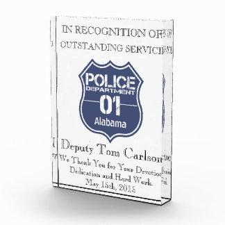Alabama-Polizeidienststelle-Schild 01 Auszeichnung