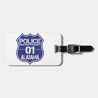 Alabama-Polizeidienststelle-Schild 01 Gepäckanhänger