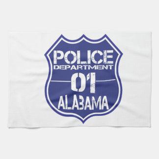 Alabama-Polizeidienststelle-Schild 01 Handtuch