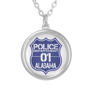 Alabama-Polizeidienststelle-Schild 01 Versilberte Kette