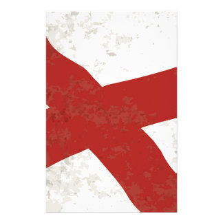 Alabama sättigen Flaggen-Schmutz Briefpapier