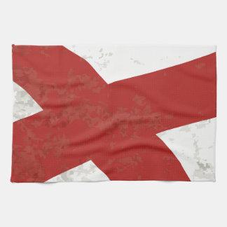 Alabama sättigen Flaggen-Schmutz Geschirrtuch