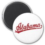 Alabama-Skriptlogo im Rot Kühlschrankmagnet