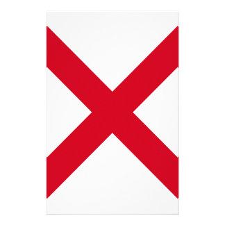 Alabama-Staat Fkag Briefpapier