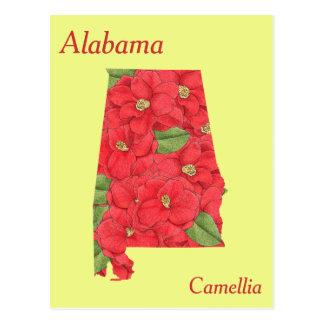 Alabama-Staats-Blumen-Collagen-Karte Postkarten