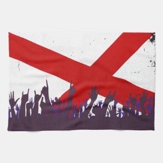 Alabama-Staats-Flagge mit Publikum Handtuch