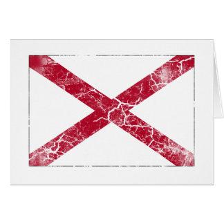 Alabama-Staats-Flagge Vintag Karte