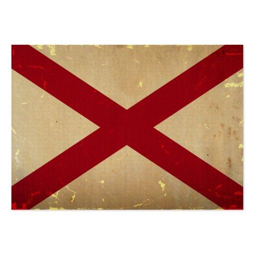 Alabama-Staats-Flagge WEINLESE Visitenkarten Vorlagen
