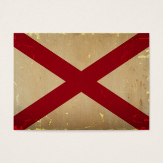 Alabama-Staats-Flagge WEINLESE Visitenkarte