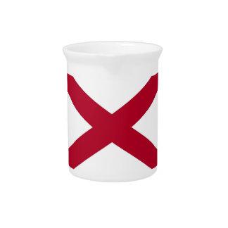 Alabama-Staats-Flaggen-Krug Getränke Pitcher