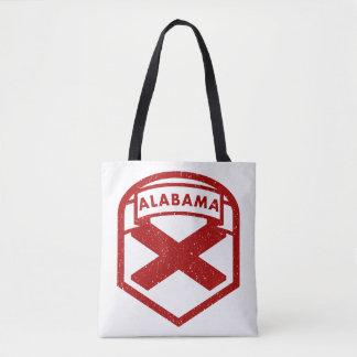Alabama-Staats-Flaggen-Schild Tasche
