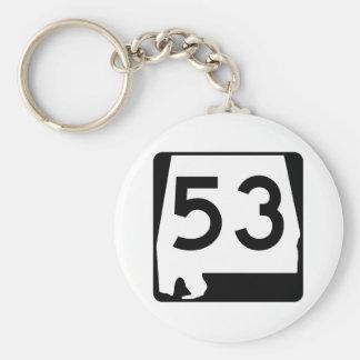 Alabama-Staats-Weg 53 Schlüsselanhänger