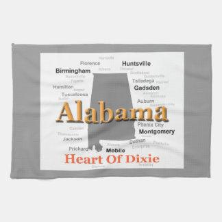 Alabama-Stolz-Karte Handtuch