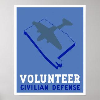 Alabama-Zivilist-Verteidigung -- WPA Poster