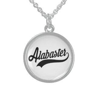 Alabaster Alabama Sterling Silberkette
