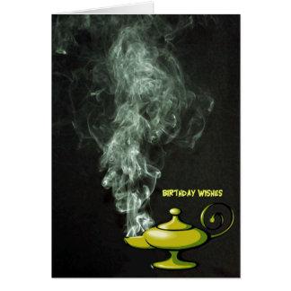 Aladdins Lampen-Geburtstags-Karte Karte
