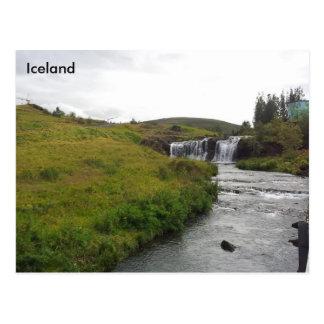 Álafoss Wasserfall, Varmá, Mosfellsbær, Island Postkarte