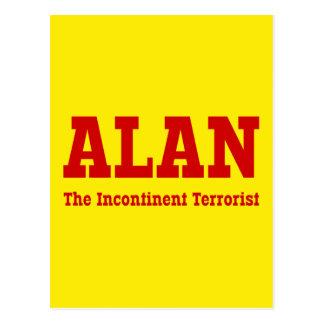 Alan - der ausschweifende Terrorist Postkarte